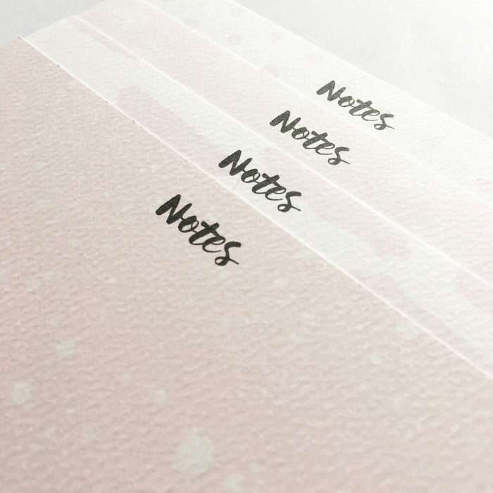 LITTLE PAPER LANE Notecard set - Pink Watercolour Set