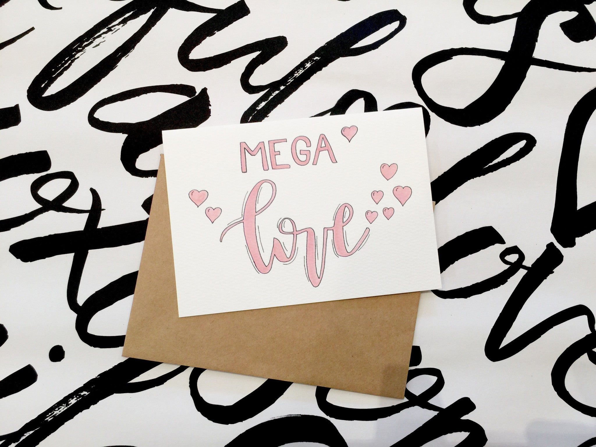 LITTLE PAPER LANE Greeting Card-MEGA LOVE