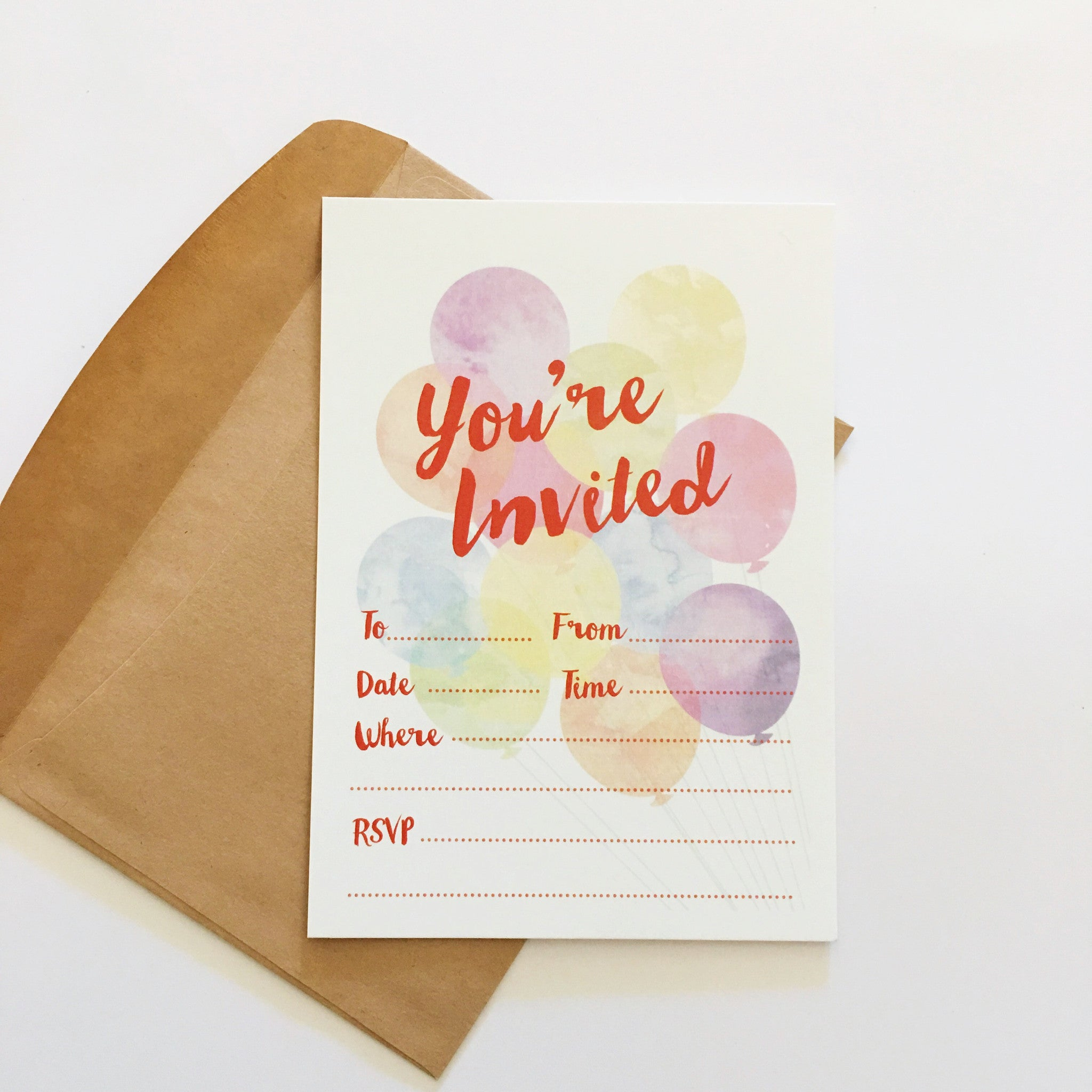 CANDELBARK Bright balloons Invitations