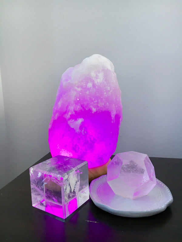 LITTLE PAPER LANE- Natural White Himalayan USB Salt Lamp LARGE