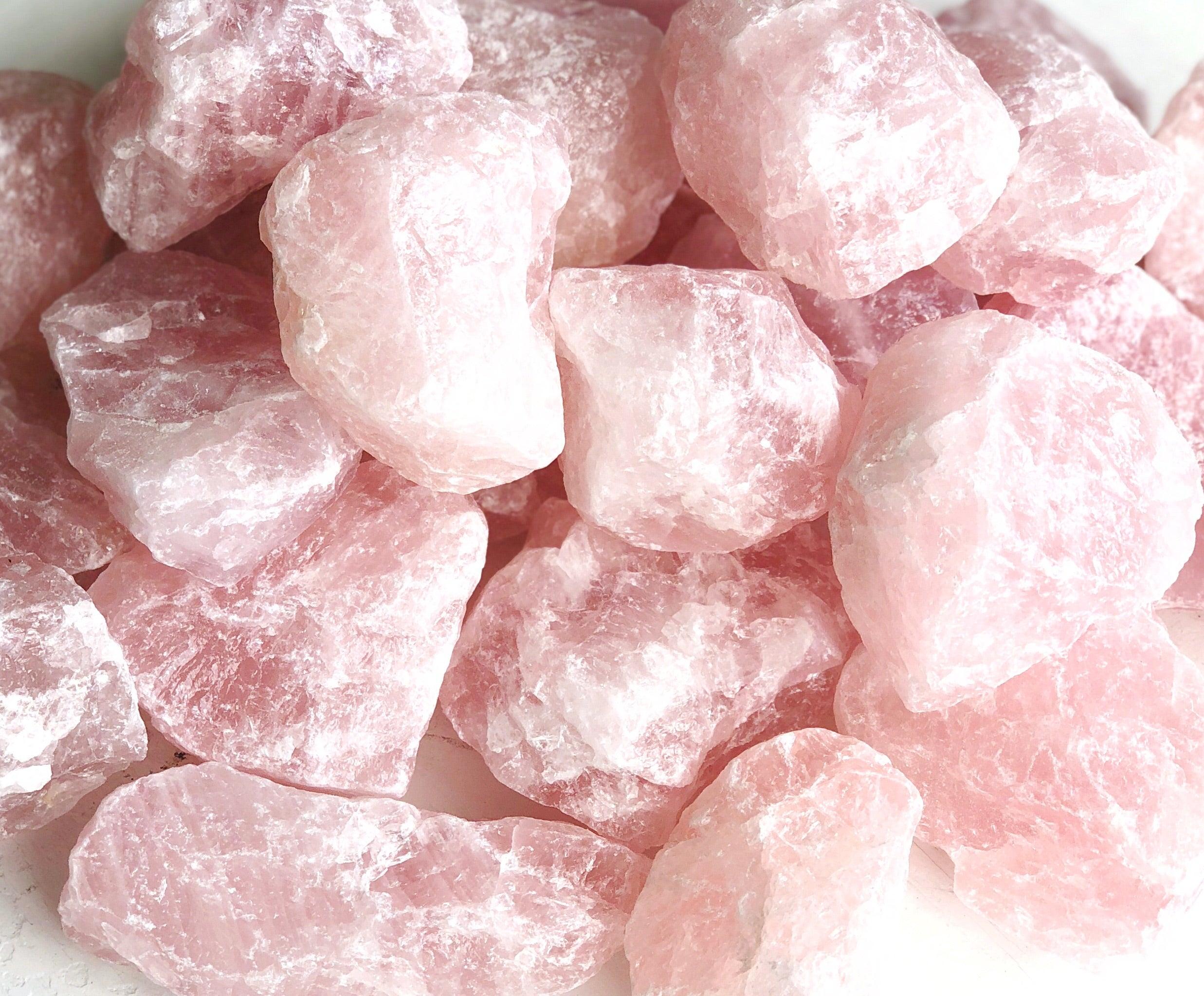 LITTLE PAPER LANE Crystals- Raw Rose Quartz $15