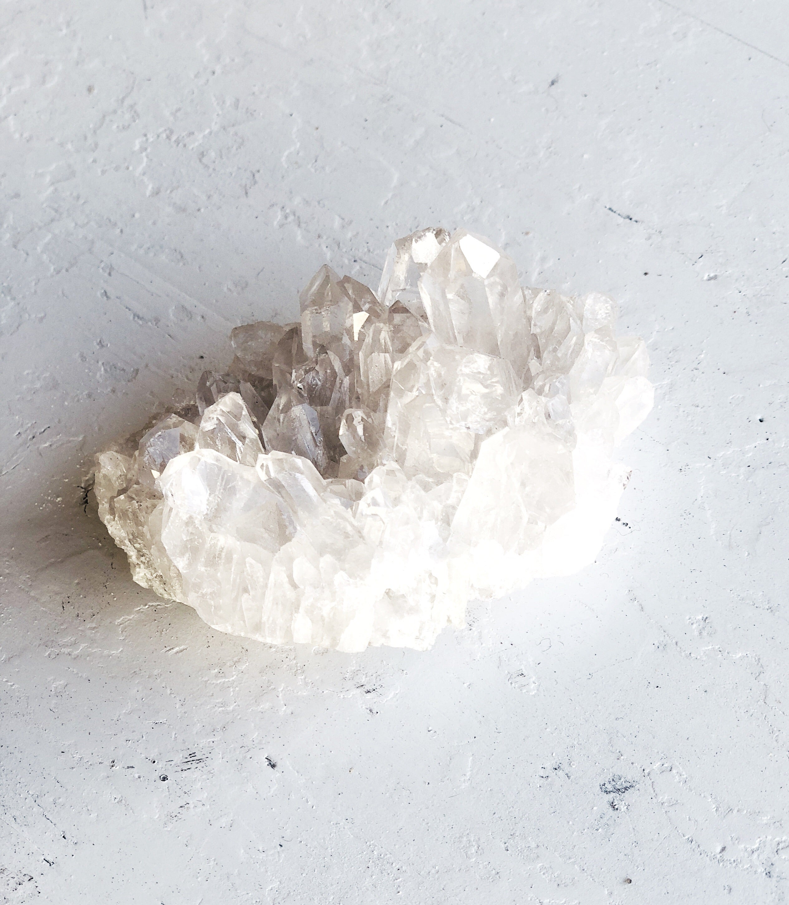 LITTLE PAPER LANE Crystals-Brazillian Clear Quartz cluster $34
