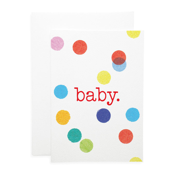 LAUREN HINKLEY- Greeting Card-Confetti baby Large