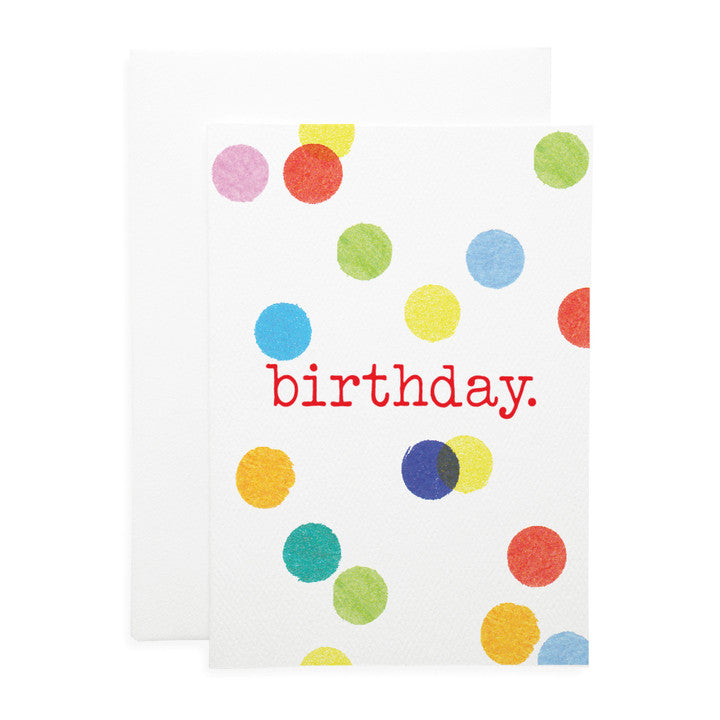 LAUREN HINKLEY- Greeting Card-Confetti B'day Large