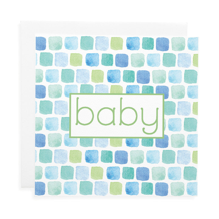 LAUREN HINKLEY- Greeting Card-Bricks Blue Large