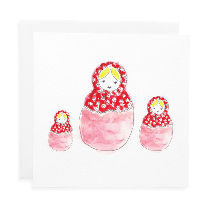 LAUREN HINKLEY- Greeting Card-Red Babushka Large