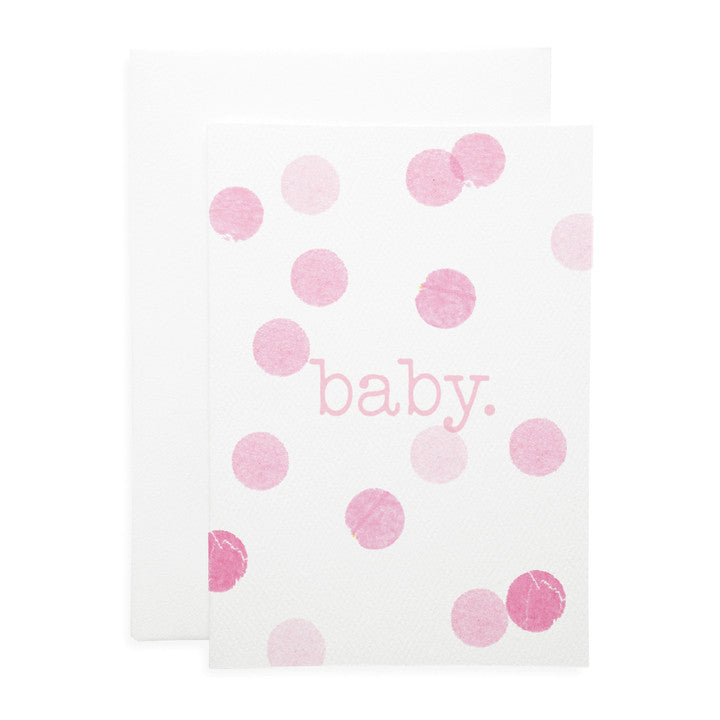 LAUREN HINKLEY- Greeting Card-Confetti Pink baby Large