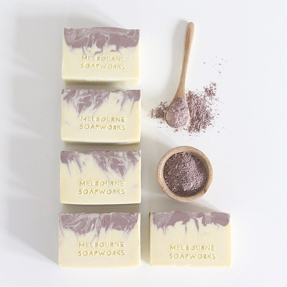 MELBOURNE SOAPWORKS- PURE LAVENDER, KAOLIN + BRAZILIAN PURPLE CLAY