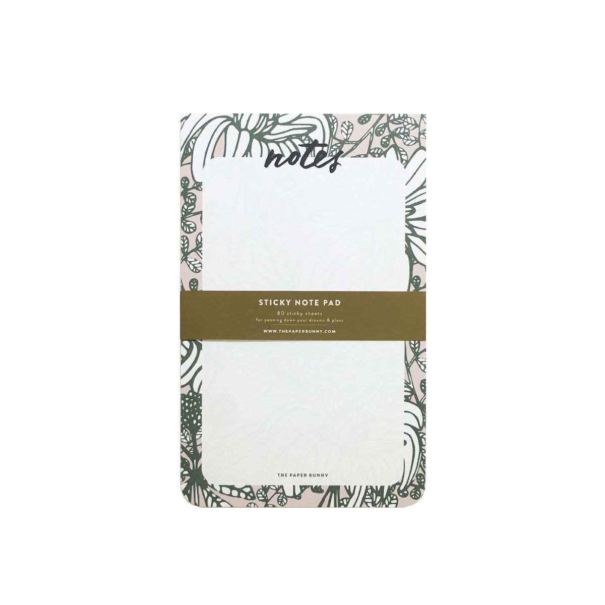 THE PAPER BUNNY- LUSH BOTANICALS STICKY NOTEPAD