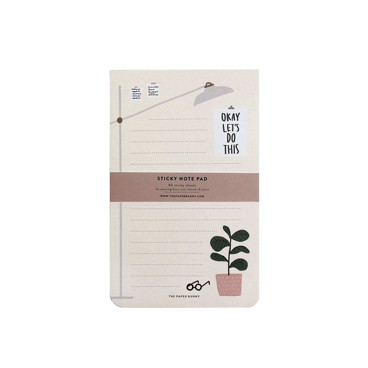 THE PAPER BUNNY- OKAY LET'S DO THIS STICKY NOTEPAD
