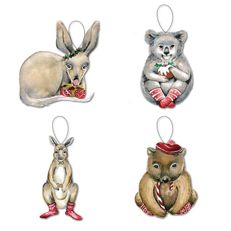 LALALAND- Christmas Ornament set-Australian Watercolour