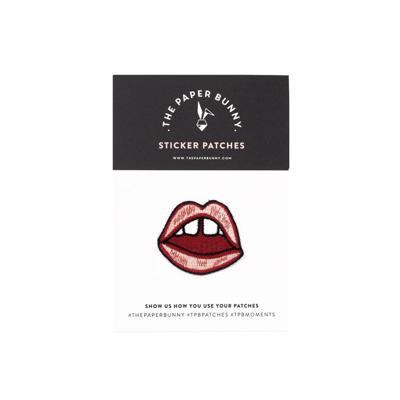 THE PAPER BUNNY-Lips Don't Lie Sticker Patch