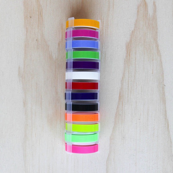 Embossing tape for your MoTEX Label Maker - an amazing array of colours ...