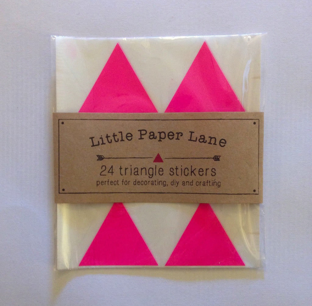 Little Paper Lane Triangle stickers - Pink