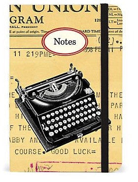 Cavilling Small Notebook - Vintage Typewriter