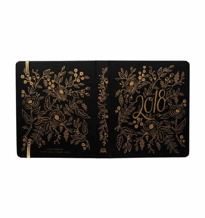 Rifle Paper Co - 2018 Binder Planner - Floral Foil