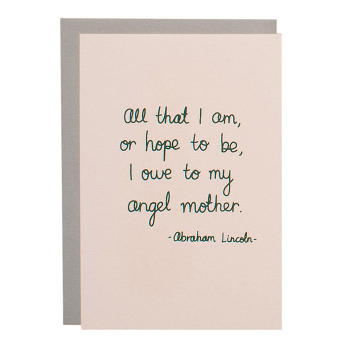 ME + AMBER Greeting Card- Lincoln Quote
