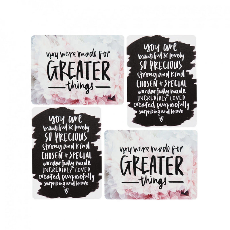 A postcard set of 2 designs, to empower, inspire, strengthen and en...
