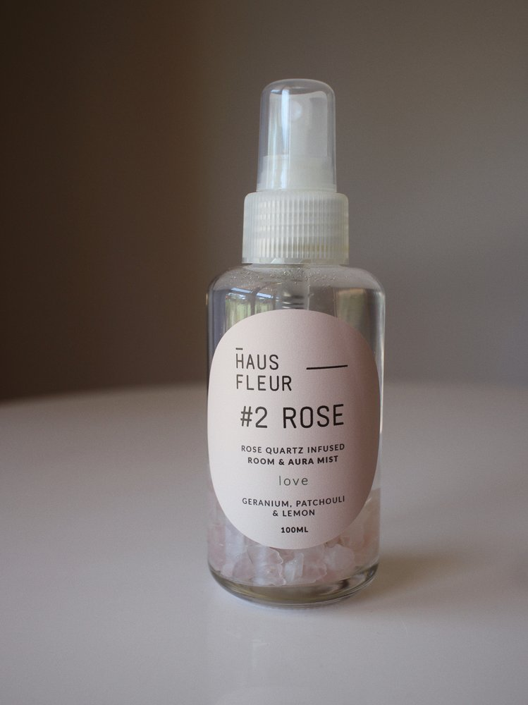 HAUS FLEUR- Crystal Infused Room Mist- #2 ROSE
