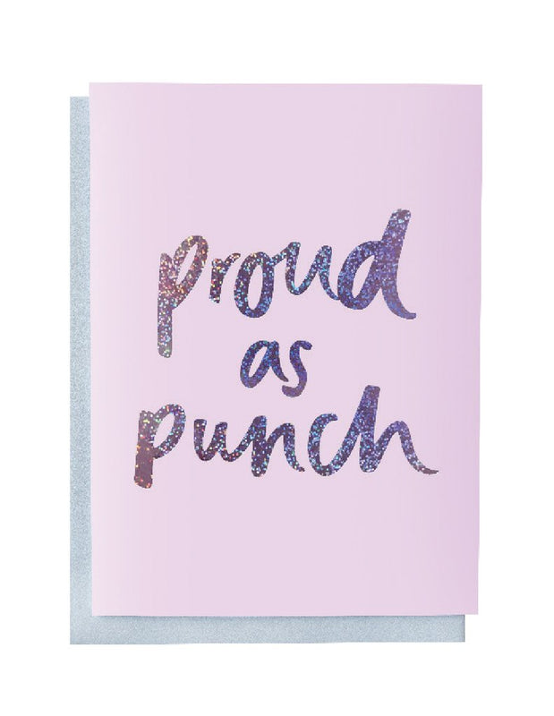 Blushing confetti- Proud s punch Greeting Card