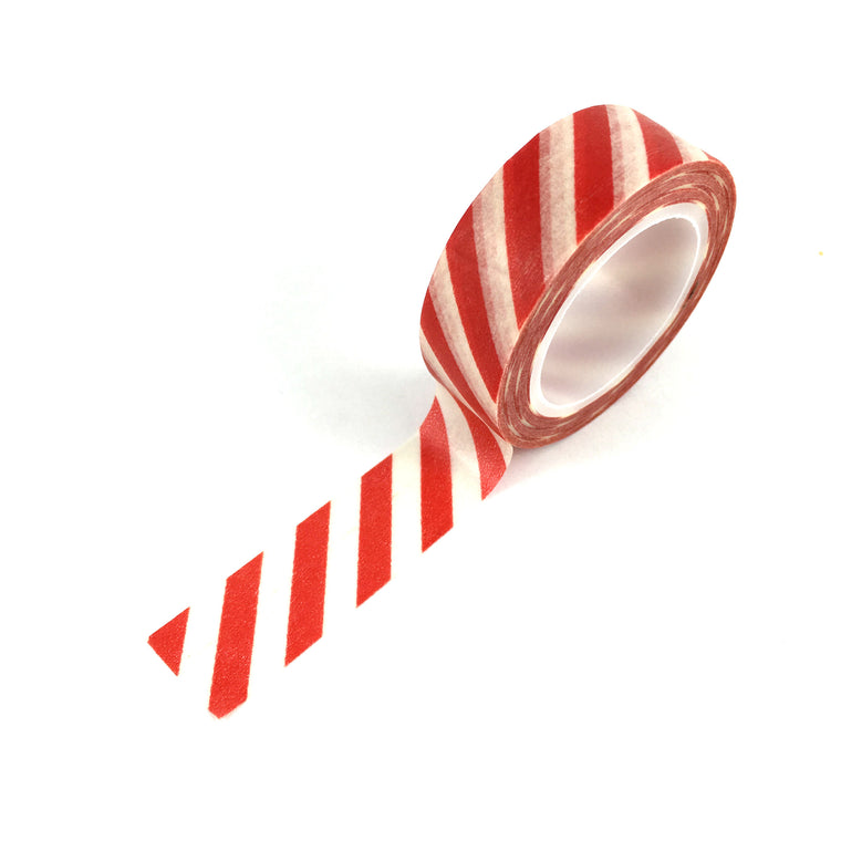 Washi Tape-Red Candy Stripe