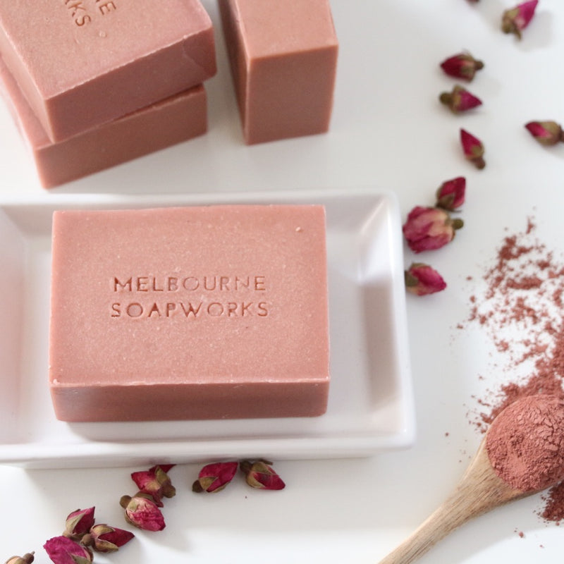 MELBOURNE SOAPWORKS- Rose Geranium with Australian Pink Clay