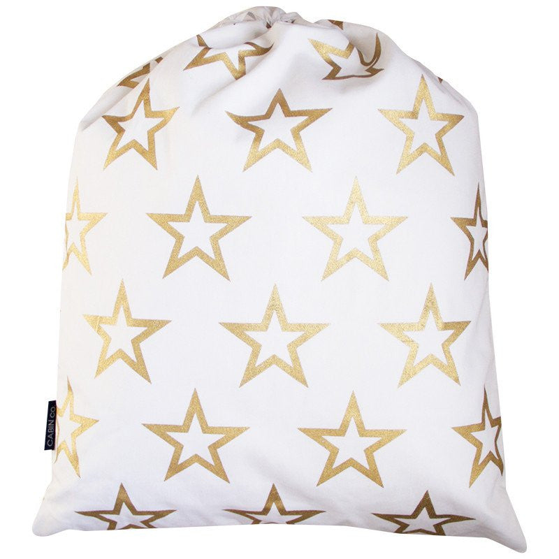 CABIN CO Gold star santa sack