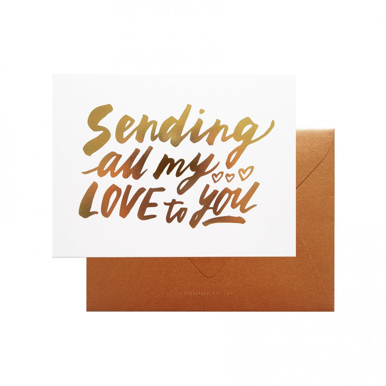 THE PAPER BUNNY-Sending All My Love Card + Envelope
