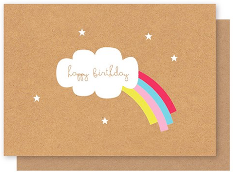 ELLY OAK CARDS-Stars with Rainbow