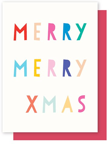 ELLY OAK CARDS-MERRY  XMAS,  LETTERS