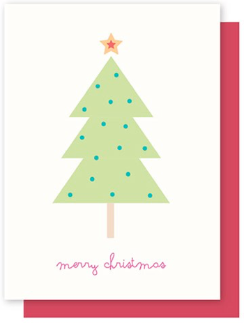 ELLY OAK CARDS-TREE  WITH  STAR