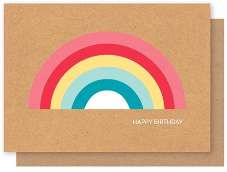 ELLY OAK CARDS-Big rainbow Happy birthday