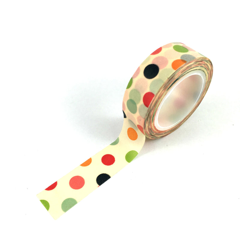 Washi Tape-Cream with coloured spots