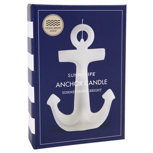 SUNNYLIFE Anchor Candle Small - White