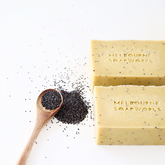 MELBOURNE SOAPWORKS- Sweet Orange + Poppyseed with Australian Bentonite Clay