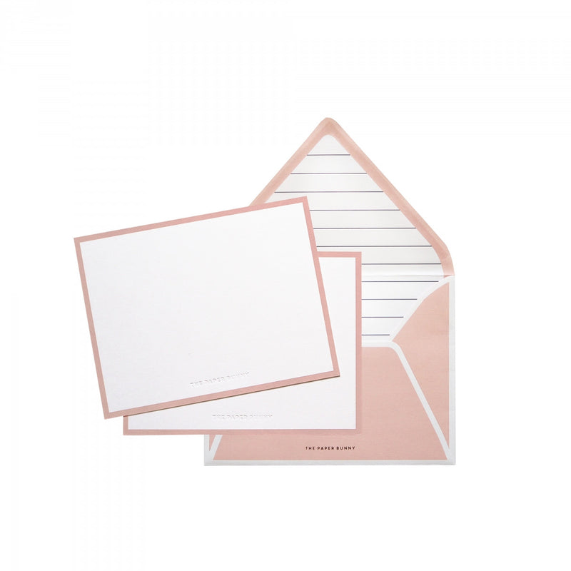 THE PAPER BUNNY- VELVET LINES NOTECARDS