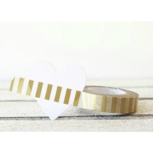 Washi Tape-Gold Vertical Stripe