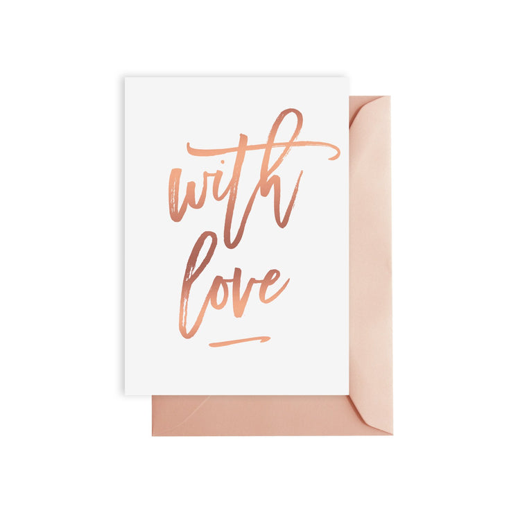 ELM PAPER-With love gold foil card