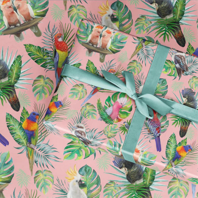 LaLaLand Tropical birds Wrapping Paper
