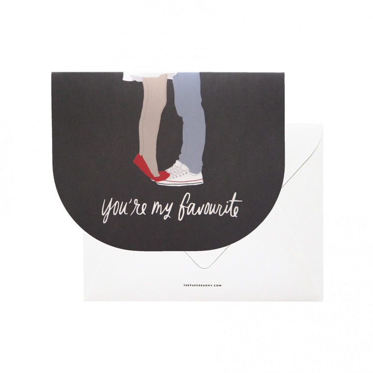 THE PAPER BUNNY-You're My Favourite Card + Envelope