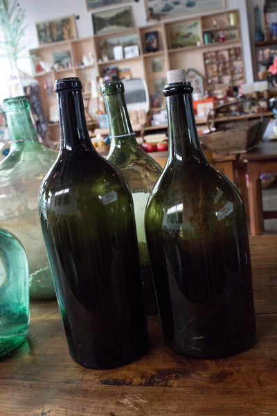 Dark Green Bottles