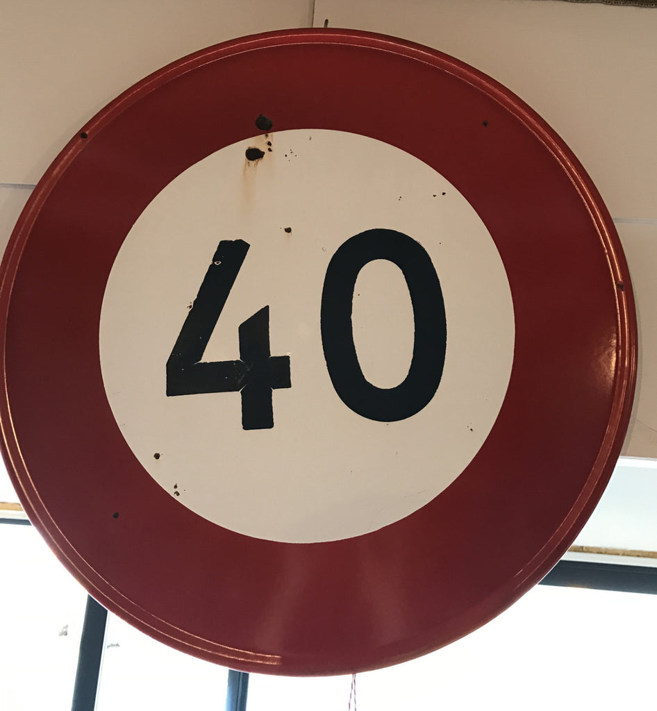 French Speed Limit Road Sign --SOLD--