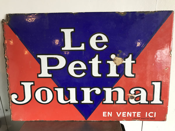 """Le Petit Journal"" Enamel Sign"