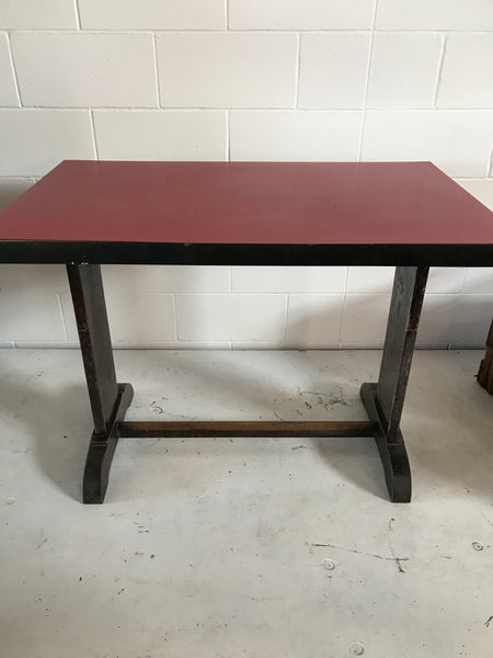 Red Topped Bistro Table