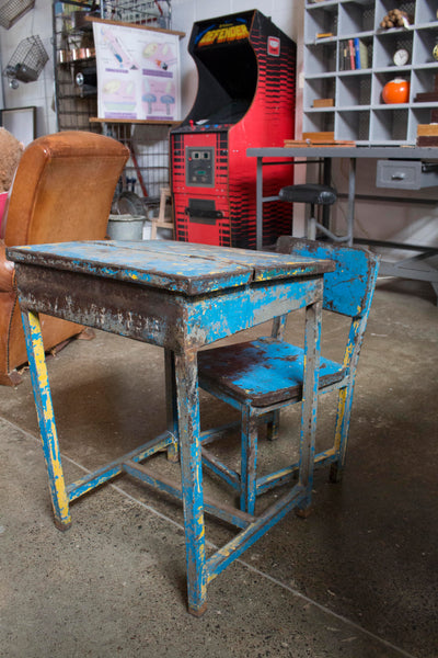 Childs Metal Desk & Chair