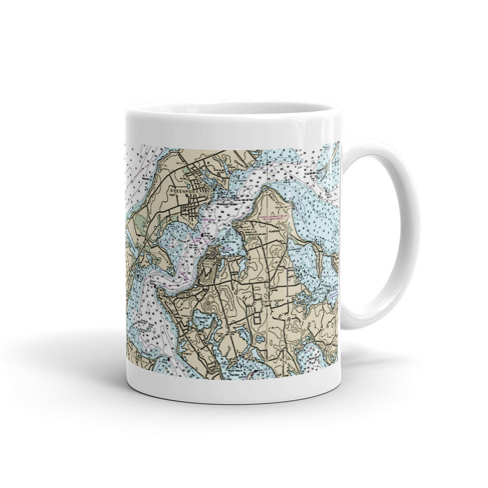 2014 Nautical Chart, Shelter Island Bay, Peconic Bay, Mug - LGINY: LONG ISLAND, NY