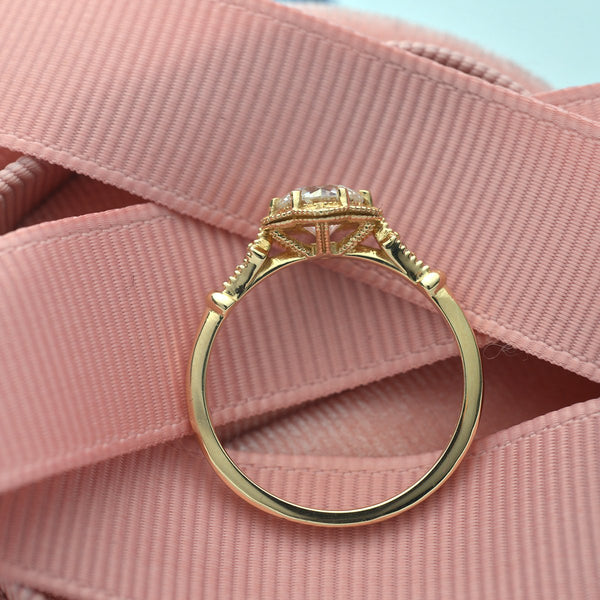 side image of engagement ring