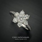 Diamond Flower Cluster Engagement ring