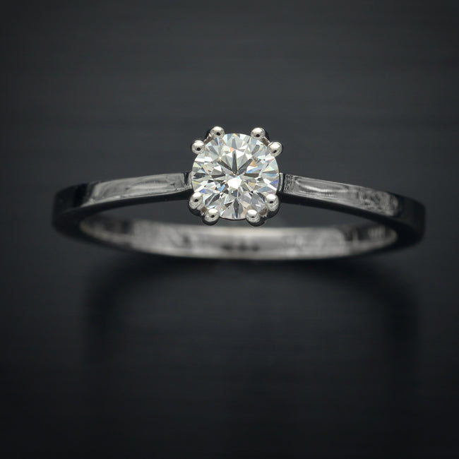 Classic Solitaire Engagement Ring with Lab Grown Diamonds