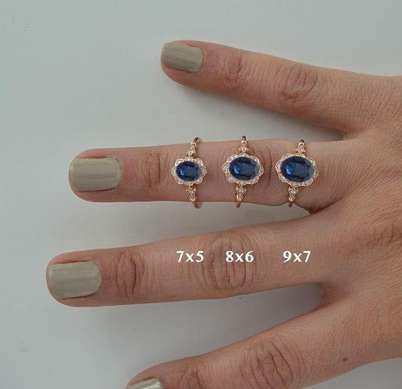 finger with 3 rings different finger sizes